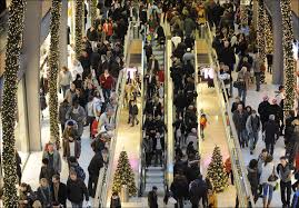christmas shopping chaos